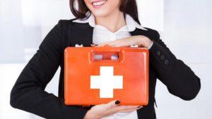Аптечка первой помощи: общие требования, средства помощи